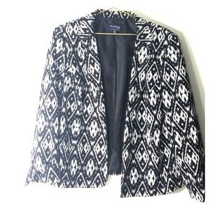 Evan Picone black and white blazer size 16W